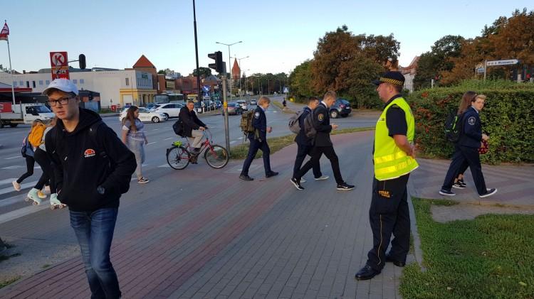 Bezpieczna droga do szkoły - akcja malborskiej Straży Miejskiej