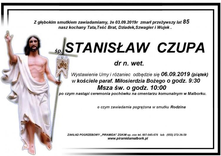 Zmarł Stanisław Czupa. Żył 85 lat.