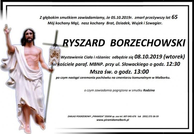 Zmarł Ryszard Borzechowski. Żył 65 lat.