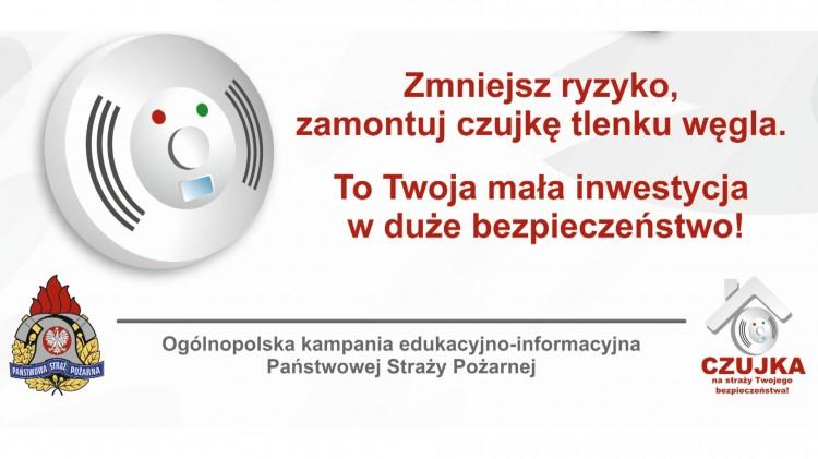 Bądź czujny - zabezpiecz się przed czadem. Trwa ogólnopolska akcja informacyjna.