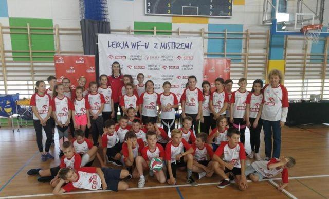 Lekcja WF-u z mistrzem w malborskiej SP nr 3