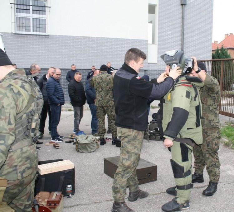 """""""EGIDA-19"""" ćwiczenia w Komendzie Powiatowej Policji w Malborku"""