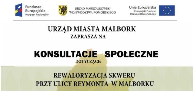 Urząd Miasta Malborka zaprasza mieszkańców na konsultacje społeczne.