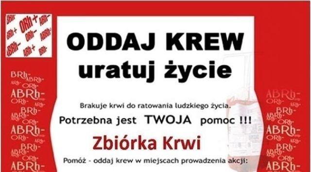 Oddaj krew - uratuj życie. Zbiórka krwi w Sztumie.
