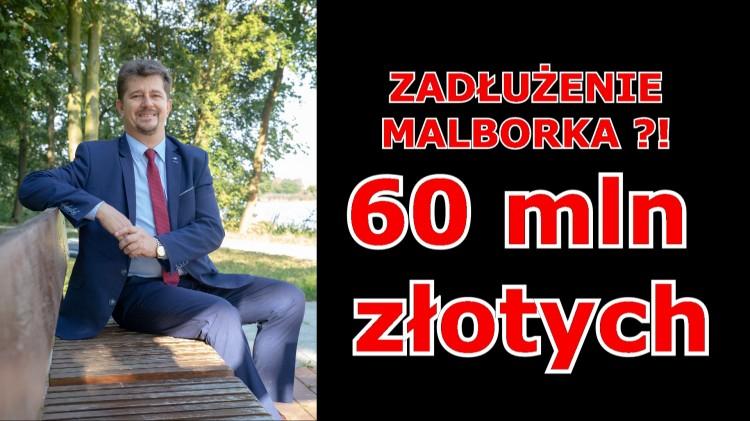 60 mln złotych wyniesie ZADŁUŻENIE MALBORKA Według założeń budżetowych na koniec 2019 r.