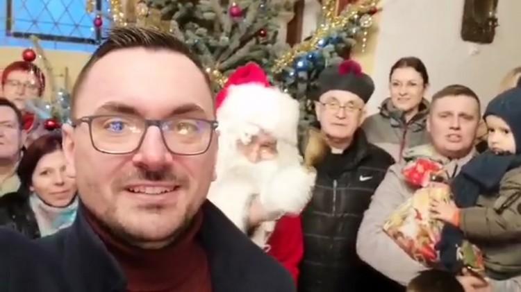 Arkadiusz Skorek, Wójt Gminy Miłoradz składa życzenia świąteczno-noworoczne
