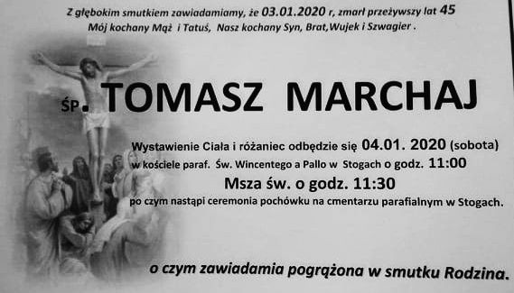 Zmarł Tomasz Marchaj. Żył 45 lat