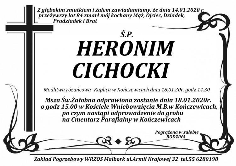Zmarł Heronim Cichocki. Żył 84 lata.