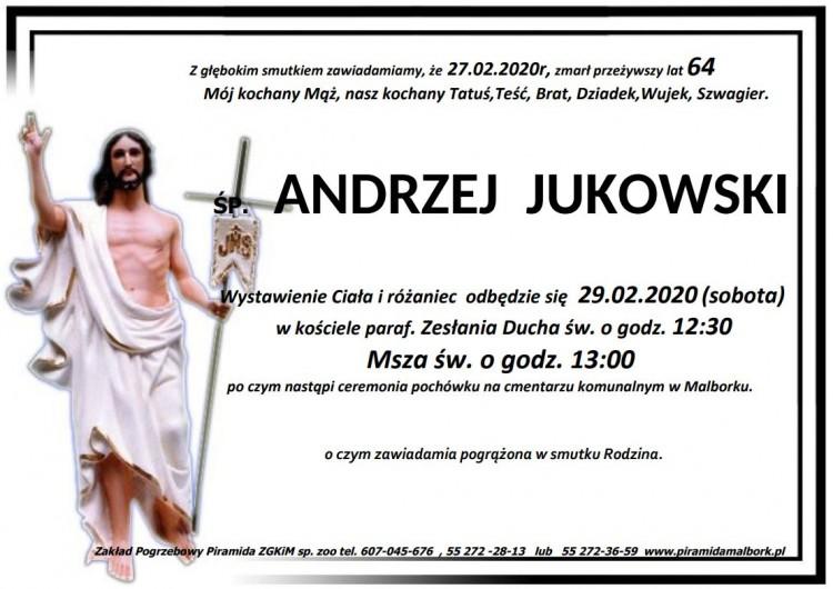 Zmarł Andrzej Jukowski. Żył 64 lata.