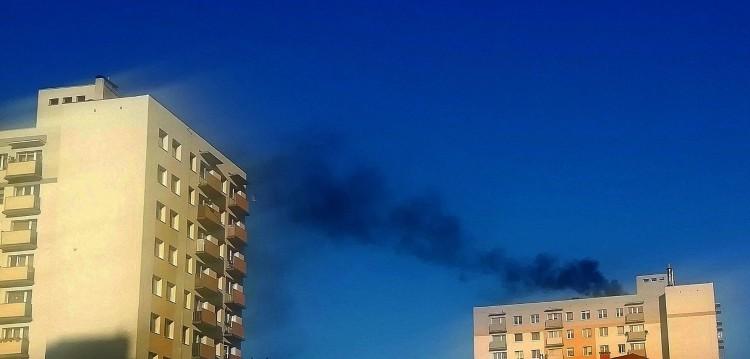 Skąd unosi się czarny dym nad Malborkiem?