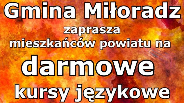 Gmina Miłoradz. Skorzystaj z darmowego kursu językowego dla mieszkańców naszego powiatu.