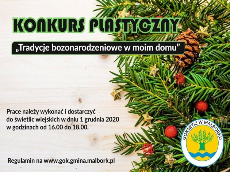 Gmina Malbork. Konkurs plastyczny na bożonarodzeniową tradycję.