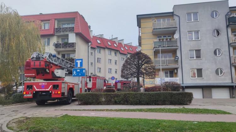 Malbork. Poranna akcja strażaków na Kotarbińskiego.