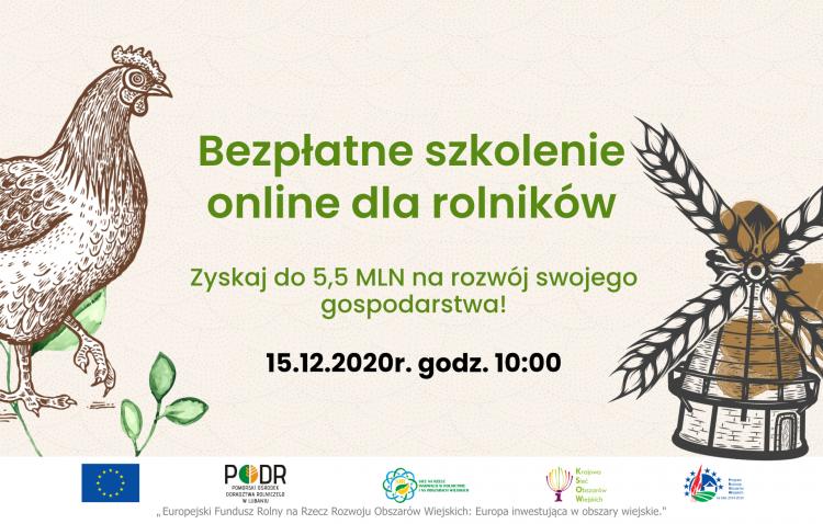 Ostatnie miejsca na szkolenia dla właścicieli gospodarstw rolnych w województwie pomorskim.
