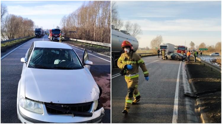 DK22. Spowodował wypadek drogowy i uciekł.