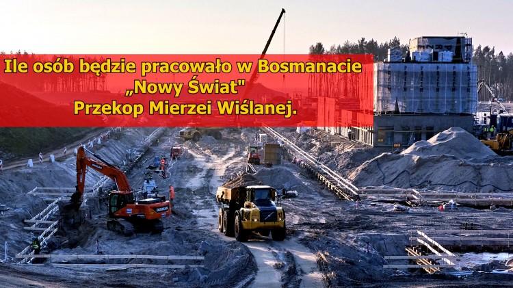 """Przekop Mierzei Wiślanej. Ile osób będzie pracowało w Bosmanacie """"Nowy Świat""""?"""