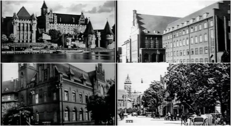 Malbork rok 1942. Zobacz unikatowy materiał wideo
