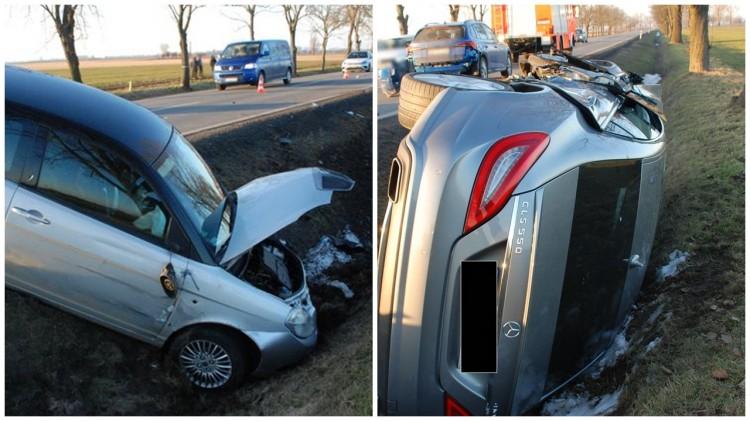DK55. Poszkodowane w wypadku małe dziecko trafiło do szpitala.