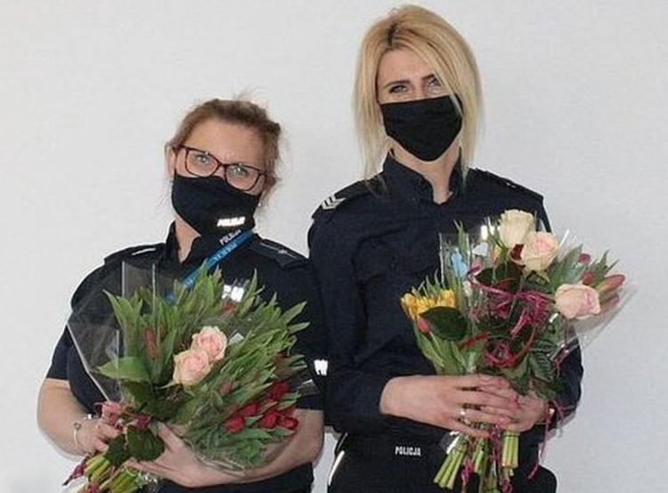 Życzenia z okazji Dnia Kobiet od malborskich policjantów.