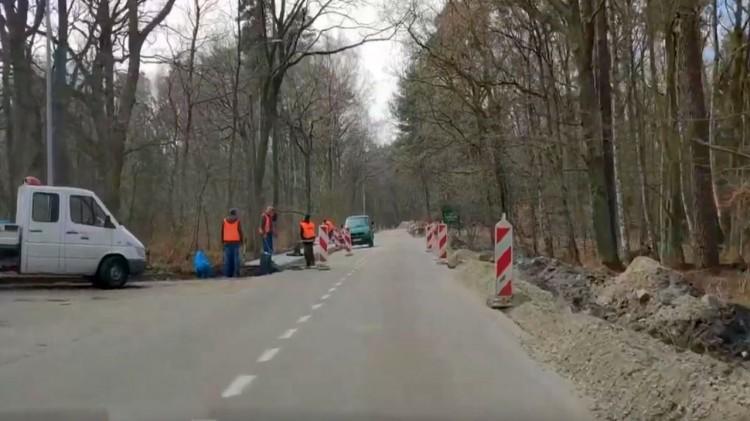DW501. Utrudnienia w ruchu drogowym na trasie do Krynicy Morskiej. Trwa remont.