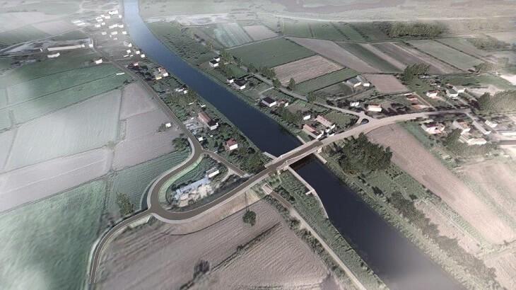 Taki będzie most obrotowy w Nowakowie #PrzekopMierzeiWiślanej Rzeka Elbląg Zatoka Elbląska