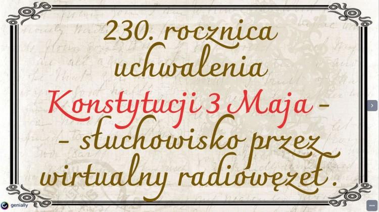 Malbork. Obchody rocznicy uchwalenia Konsytuacji 3 Maja w ZSP3.