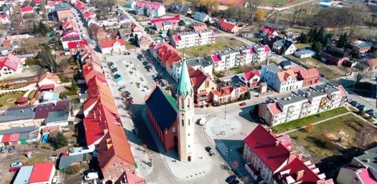 Nowy Staw. Urząd Miejski z dotacją Rządowego Funduszu Rozwoju Mieszkalnictwa.