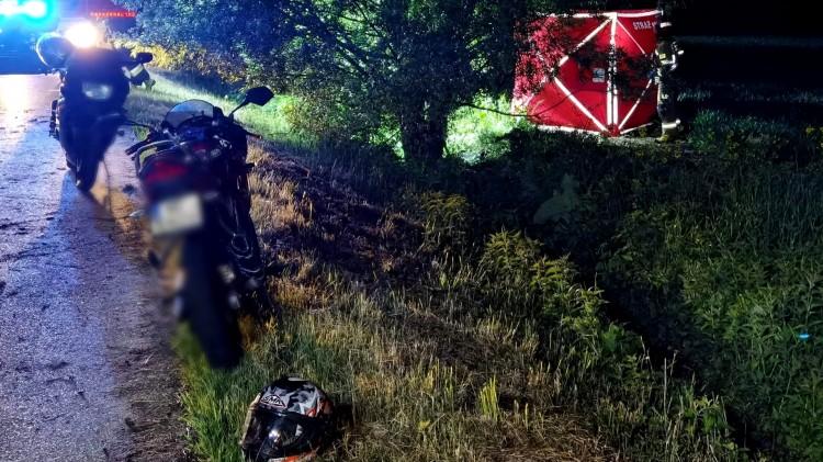 Nowy Dwór Gdański. Śmiertelny wypadek motocyklisty.