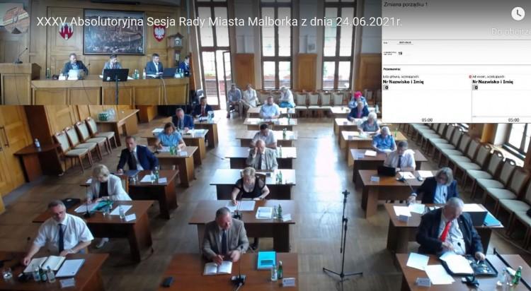 Debata nad Raportem o stanie Miasta Malborka. XXXV absolutoryjna sesja Rady. Oglądaj na żywo.