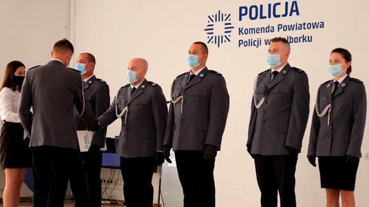 Malbork. Wręczono awanse i wyróżnienia podczas powiatowych obchodów Święta Policji.