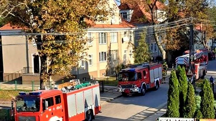 Malbork. Poranna akcja strażaków na Jagiellońskiej.