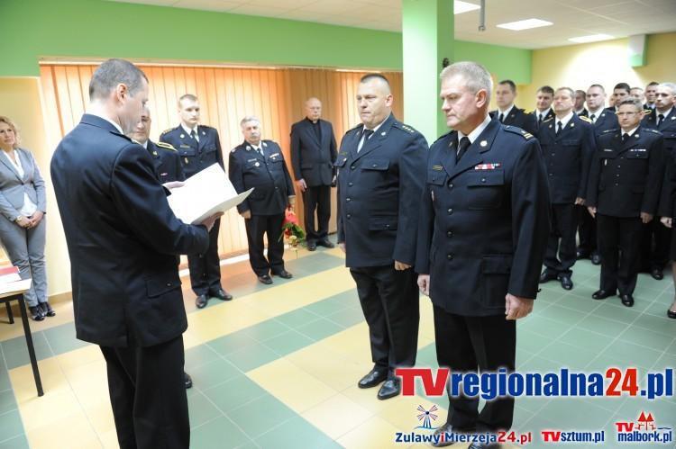 Zmiana na stanowisku Dowódcy Jednostki Ratowniczo-Gaśniczej w Sztumie. mł. bryg Rajmund Kowszewicz odszedł na emeryturę zastąpi go st. kpt. Cezary Murawski – 03.11.2015