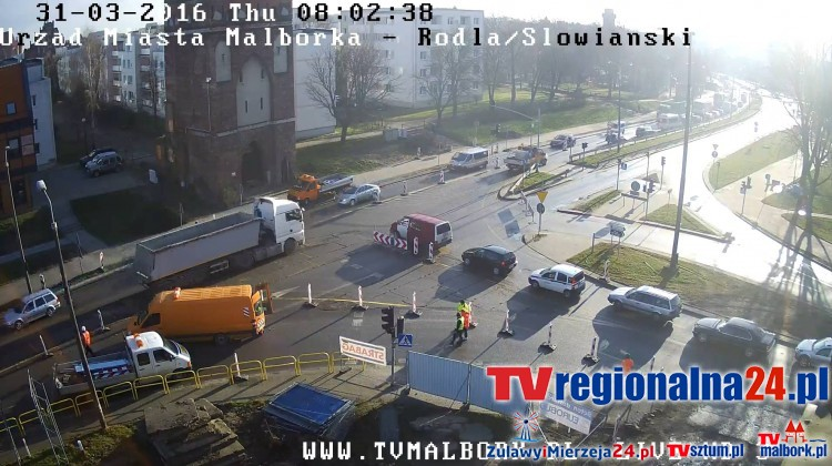 GDDKiA: Zmiany organizacji ruchu w Malborku wprowadzone. Zobacz obraz na żywo - 31.03.2016