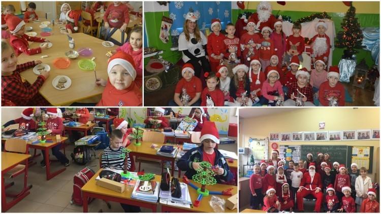 Uczniowie Zespołu Szkół nr 1 w Malborku w oczekiwaniu na św.Mikołaja.…