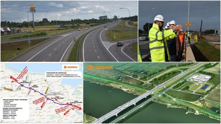 Żuławy. Realizacja trasy S7 na odcinku Koszwały - Nowy Dwór Gdański…