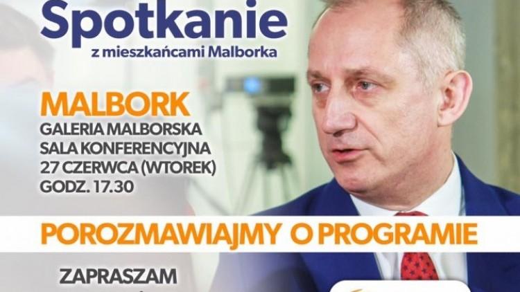 Malbork. Zapraszamy na spotkanie ze Sławomirem Neumannem - 27.06.2017