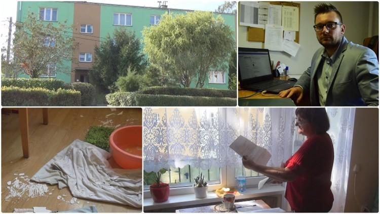 Dzierzgoń: Cieknący dach, grzyb i odpadający tynk. Schorowana lokatorka…