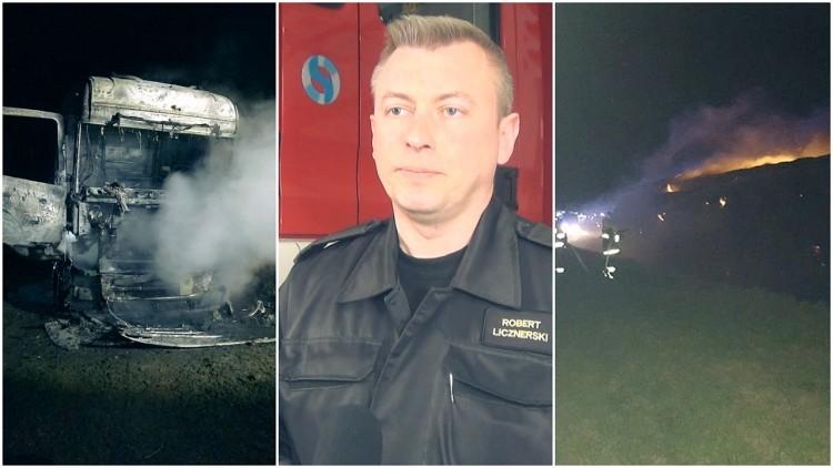 Pożar mieszkania, ciągnika i sterty słomy. Weekendowy raport malborskich…