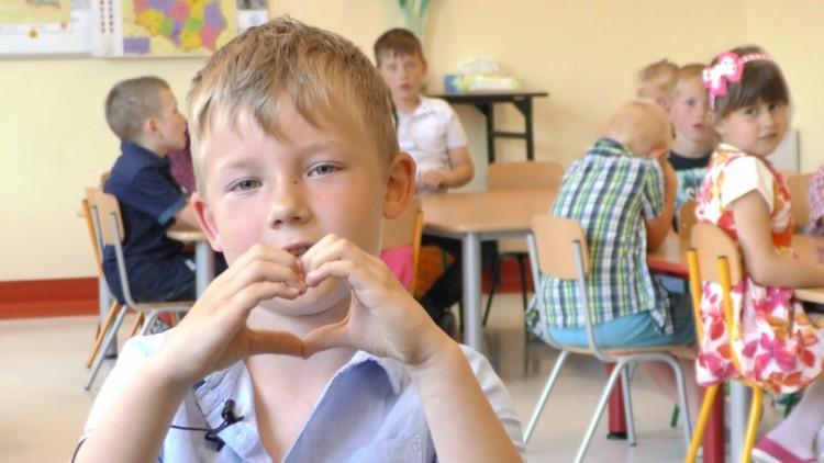 Przedszkolaki ze Szkoły Podstawowej w Gminie Malbork składają życzenia…