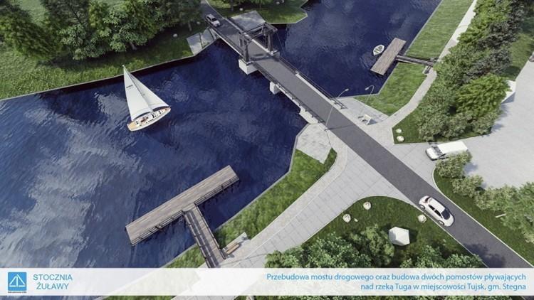 Tujsk: Zobacz wizualizację remontu mostu drogowego na Tudze.