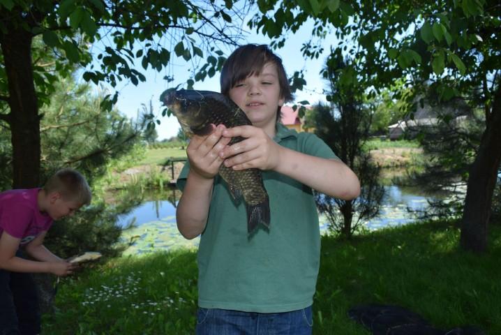 Pierwszy raz i złowił taką rybę!!