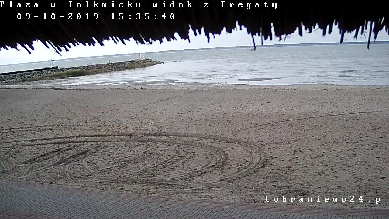 Plaża Tolkmicko na żywo  Restauracja Fregata
