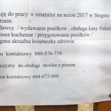 Praca w smażalni na sezon 2017 w Stegnie nad morzem. Poszukiwany/a od zaraz!