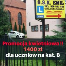 """Szkoła jazdy """"EMIL"""" PROMOCJA na maj"""