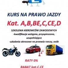 PROMOCJA !!! Kurs na prawo jazdy kat.A,B,BE,C,CE,D oraz szkolenia kierowców zawodowych OSK Edyta Wojtkowska Nowy Dwór Gdański ul.Drzymały 4
