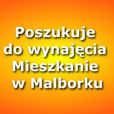 Poszukuje do wynajęcia Mieszkanie 2-3 pokojowe w Malborku