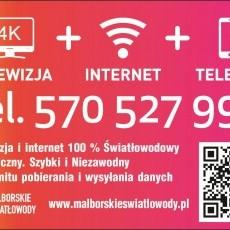Mega Szybki internet: Malbork, Nowy Staw, Nowy Dwór Gdański, Frombork. Internet z prędkością światła w twoim mieszkaniu