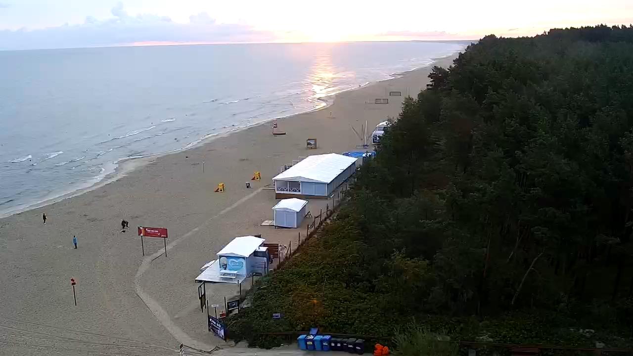Kąty Rybackie Plaża Na żywo. Kamera Skierowana W Kierunku